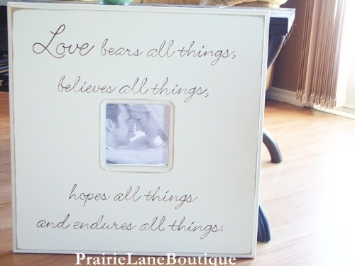 Custom Wedding Frame (by Prairie Lane Boutique via EmmalineBride.com) #handmade #wedding