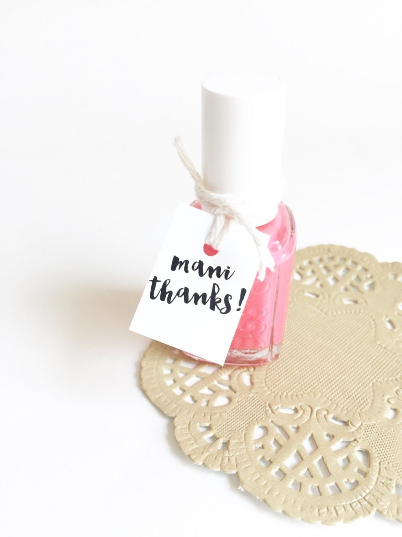 cute polish favors | bachelorette spa party http://emmalinebride.com/bachelorette/spa-party/