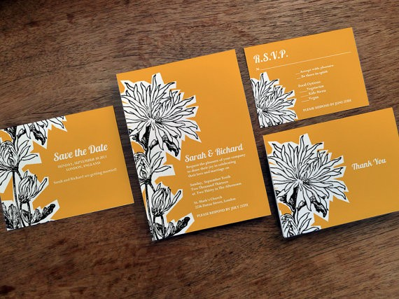 dahlia printable wedding invitations