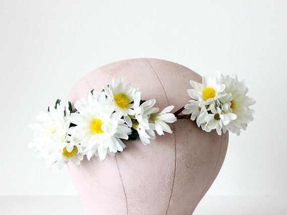 daisy flower hair crown