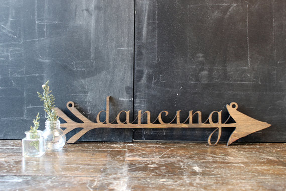 dancing wedding arrow via 20+ Boho Arrow Wedding Ideas