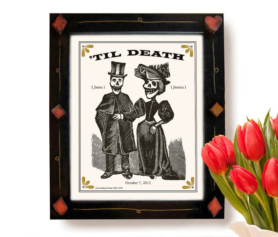 day of the dead wedding print | via wedding prints personalized by theme