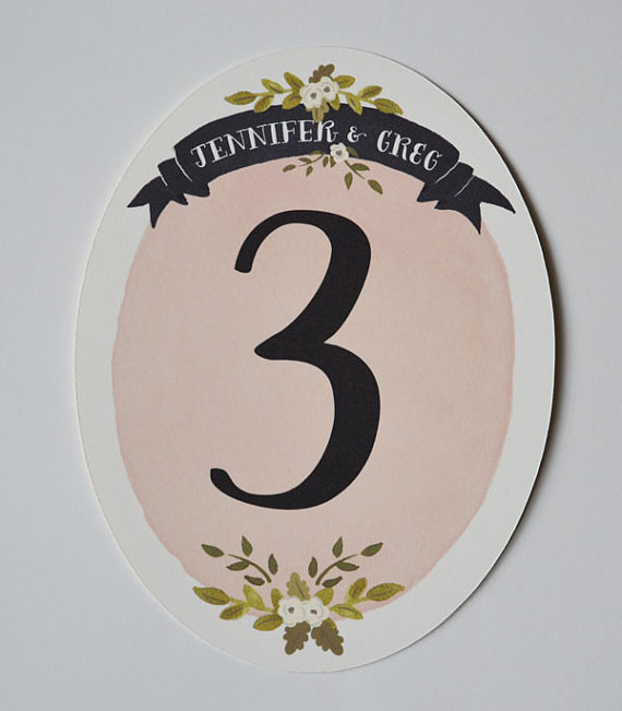 decorative table numbers (by the first snow)