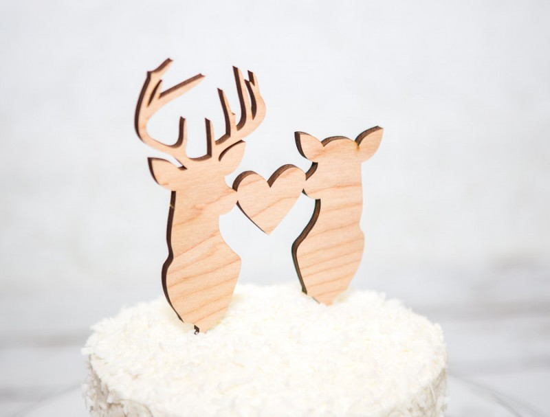 deer head cake topper