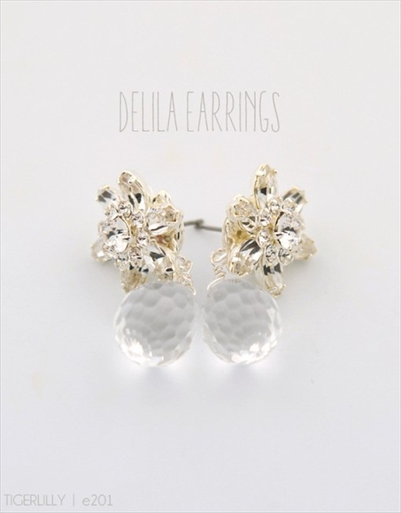 Vintage Drop Earrings (Delila by Tigerlilly Jewelry) #handmade #wedding #jewelry