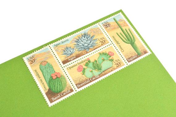 desert plant stamps by gubbagumma