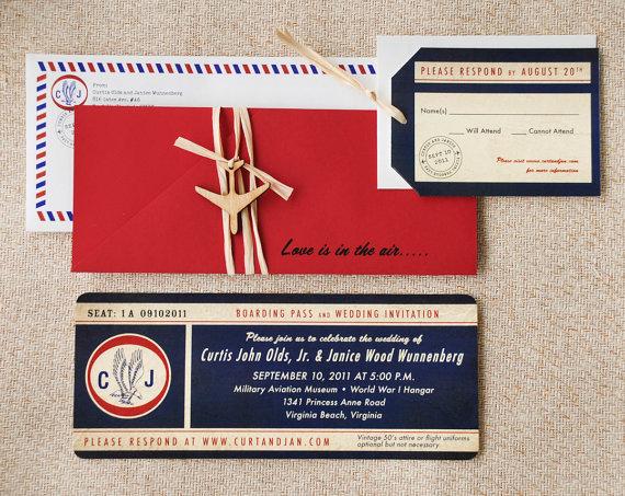 destination wedding airplane wedding invitations - 5 Creative Wedding Invitation Styles