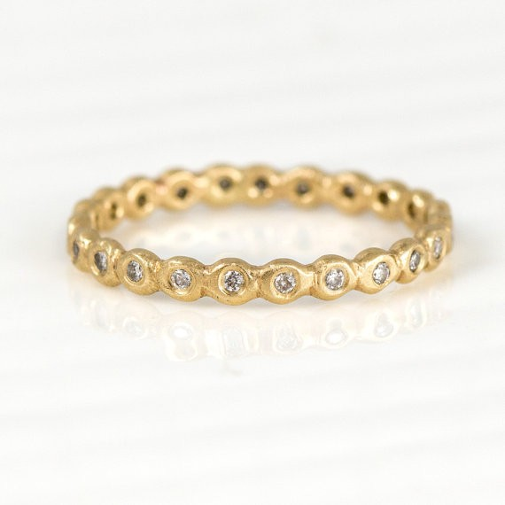 diamond band | handmade wedding rings | http://emmalinebride.com/jewelry/handmade-wedding-bands/