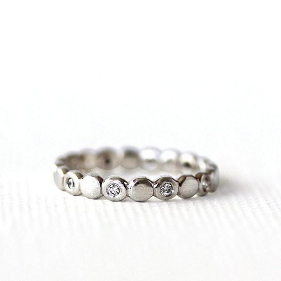 diamond gold eternity band | handmade wedding rings | http://emmalinebride.com/jewelry/handmade-wedding-bands/