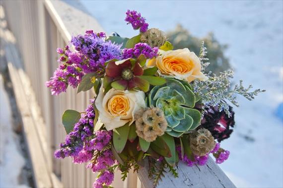 DIY Boho Wedding Bouquet via EmmalineBride.com