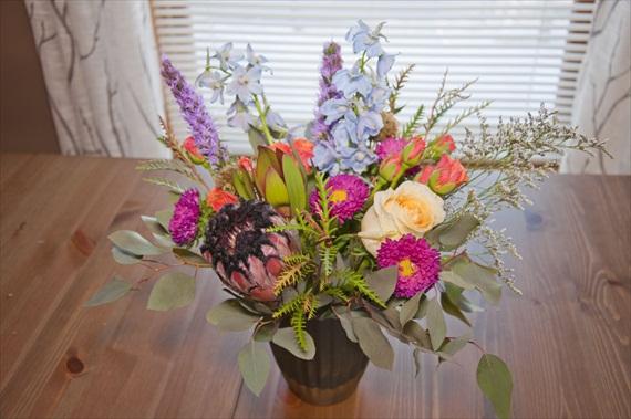 DIY Boho Wedding Centerpiece via EmmalineBride.com