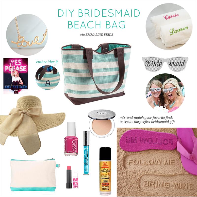 DIY Bridesmaid Beach Bag | via https://emmalinebride.com/bridesmaids/diy-bridesmaid-beach-bag/