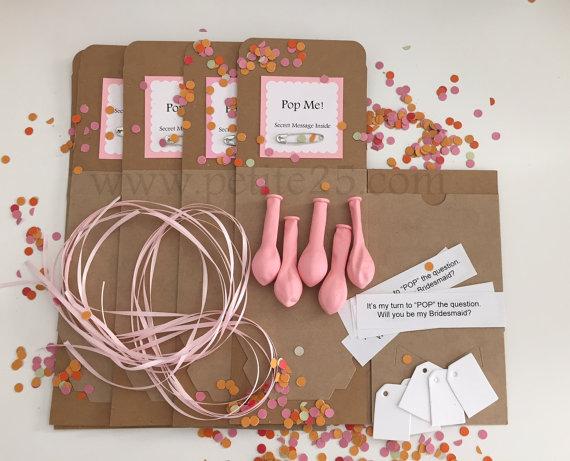 Be My Bridesmaid Balloon Kit