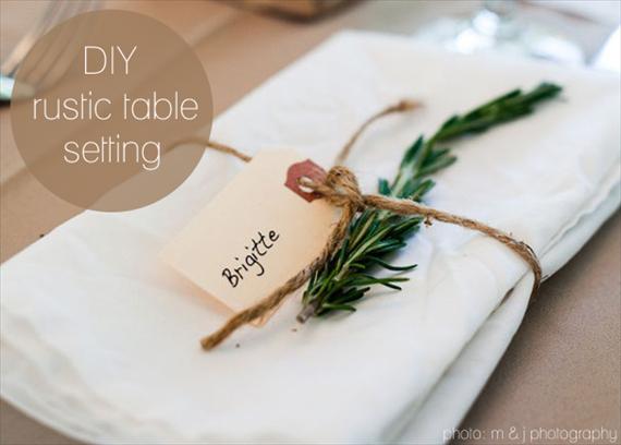 diy rustic table setting