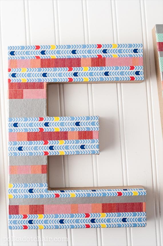diy washi tape letter via DIY Washi Tape Ideas