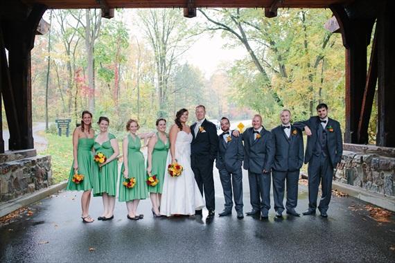 DIY Fall Wedding - Photo by Noelle Ann Photography - #fall #wedding #bridesmaids #groomsmen