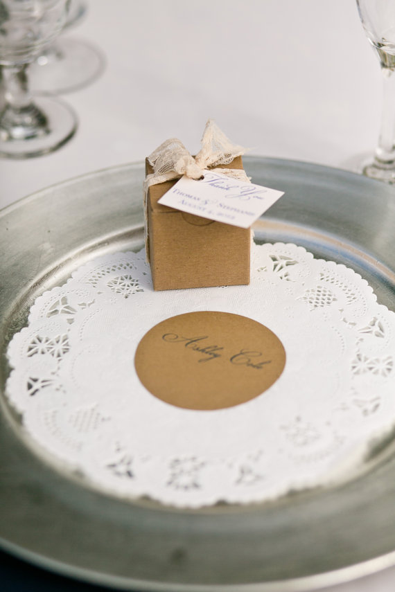 Doily Place Cards (by Belle Amour Designs)