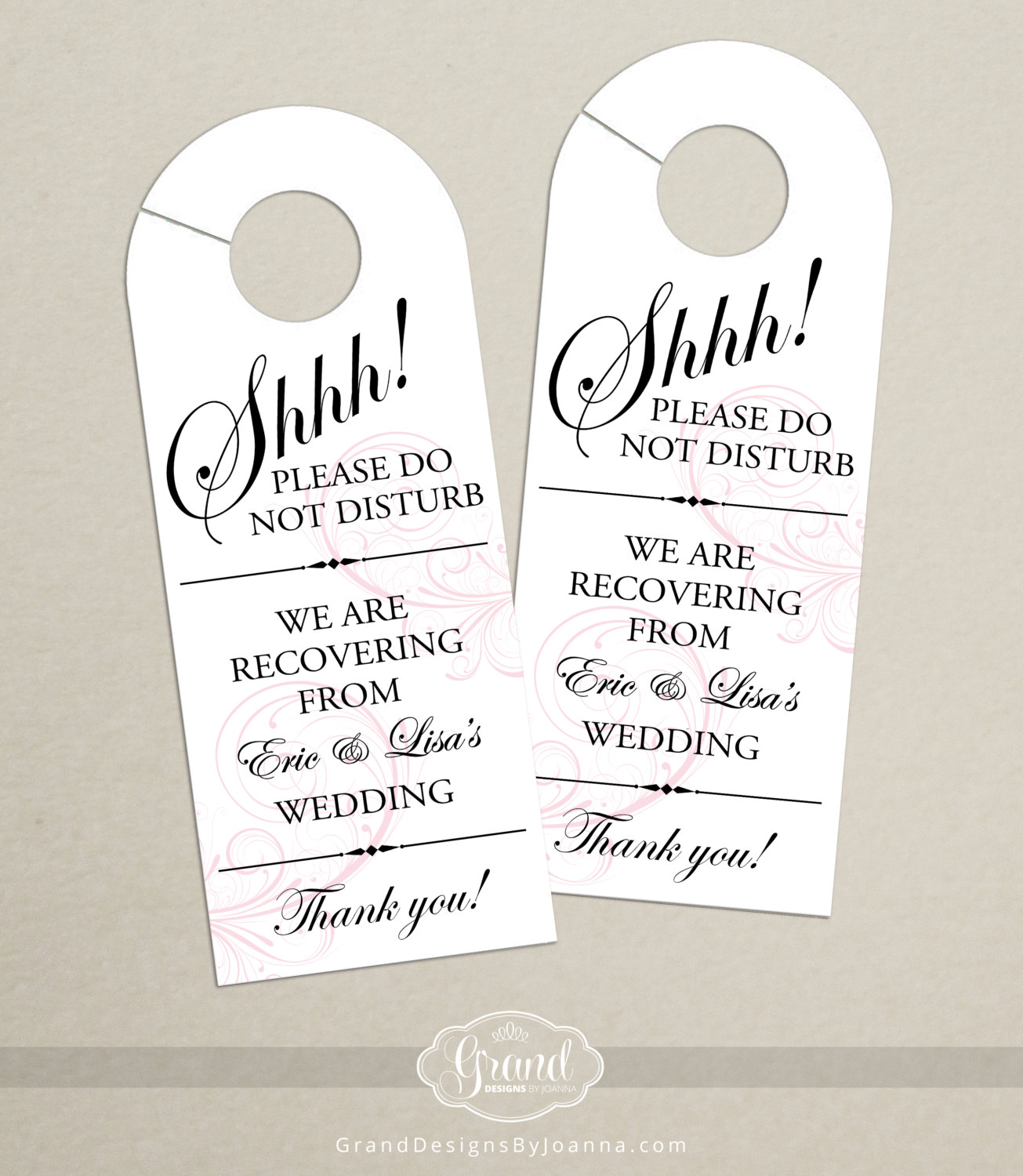 Wedding Door Hanger | What to Put in Wedding Welcome Bags