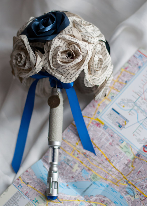 dr who paper bouquets via 7 Paper Flower Bouquets to Pick for Weddings
