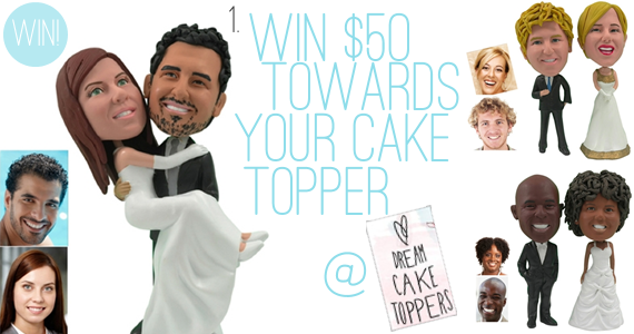 Holiday Giveaway at Emmaline Bride® - Day 2 - Dream Cake Toppers $50 Gift Certificate