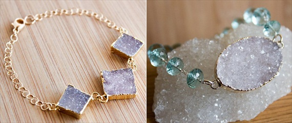 druzy jewelry bracelets