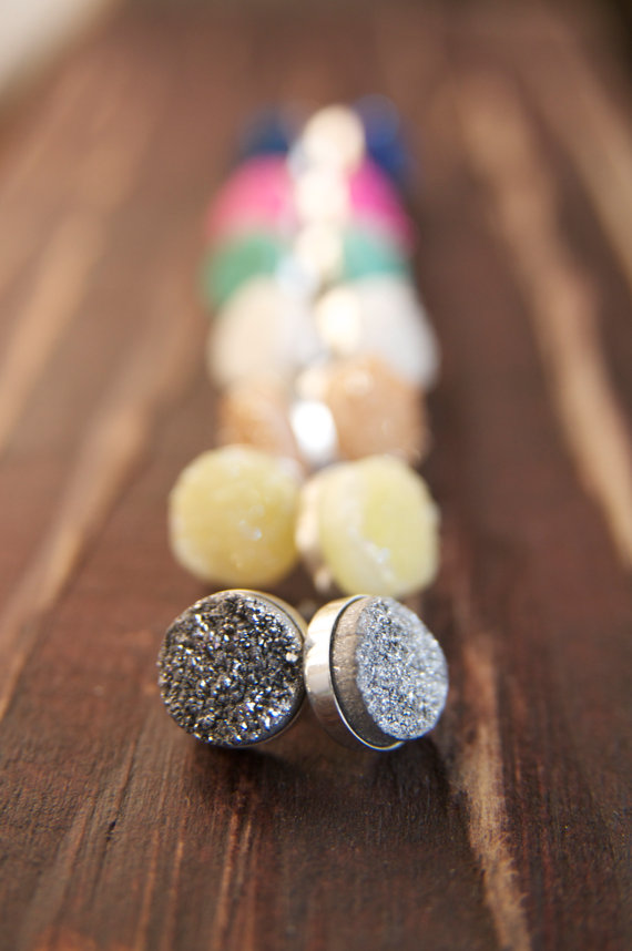 druzy stud earrings | druzy bridesmaid jewelry