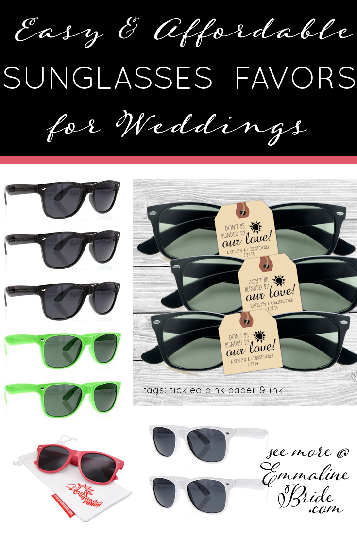 easy affordable sunglasses favors for weddings