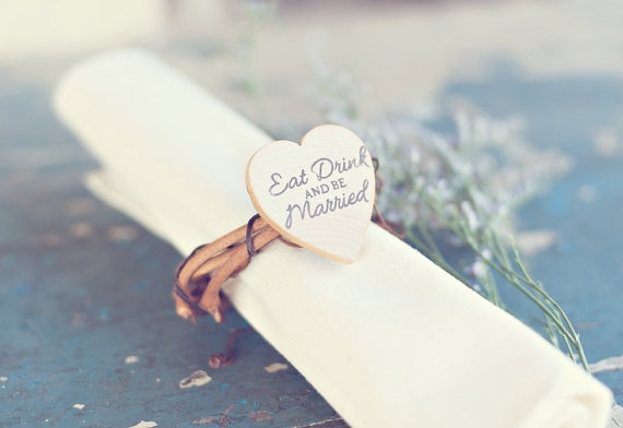 Napkin Rings for Weddings - napkin rings by pnz designs, photo by melania marta