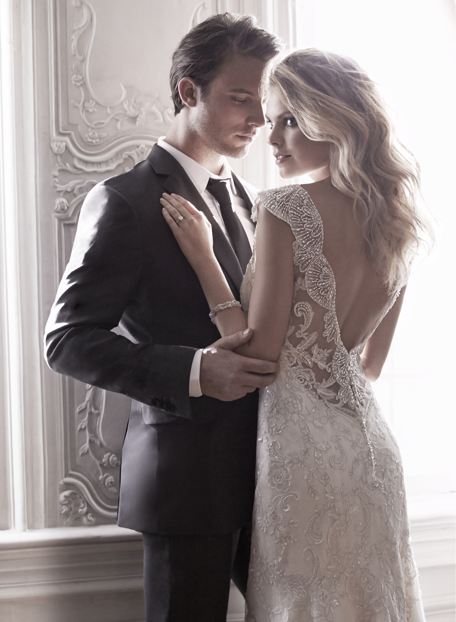 ELISON | Sheath Wedding Dresses by Maggie Sottero | via EmmalineBride.com