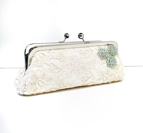 bridal clutch bags - ella-lace-clutch