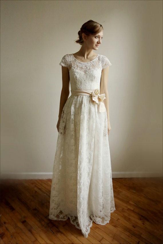 ellie long lace dress