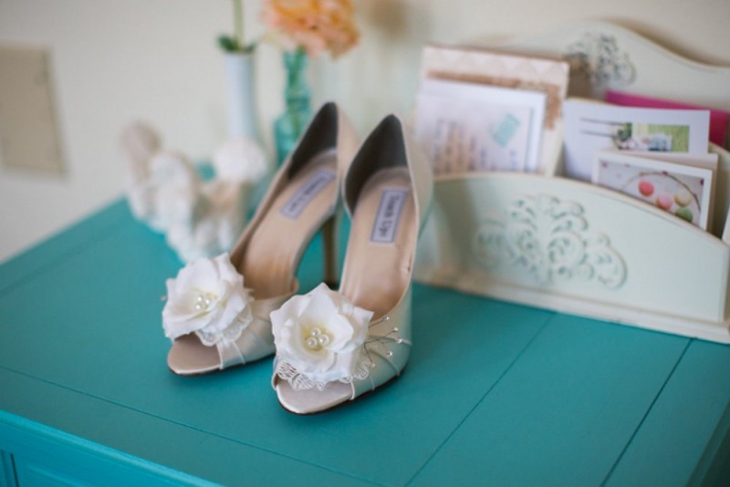 embellished wedding heels by Becca & Louise