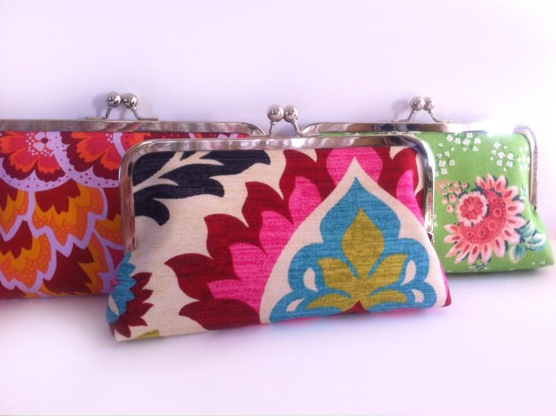bridesmaid clutch bags by flora handmade