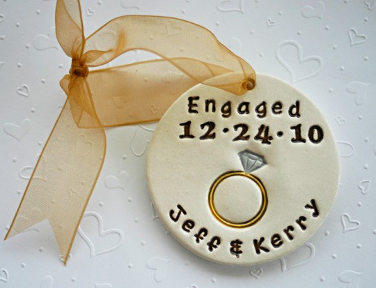 engaged ornament by sunshine ceramics