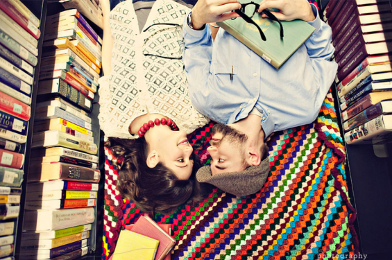 20 Best Engagement Photo Ideas: The Library (by Michelle Gardella)