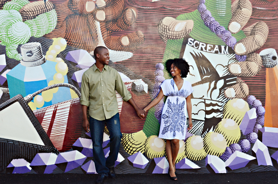 20 Best Engagement Photo Ideas: The Miami Mural (by Photos by Mavi)