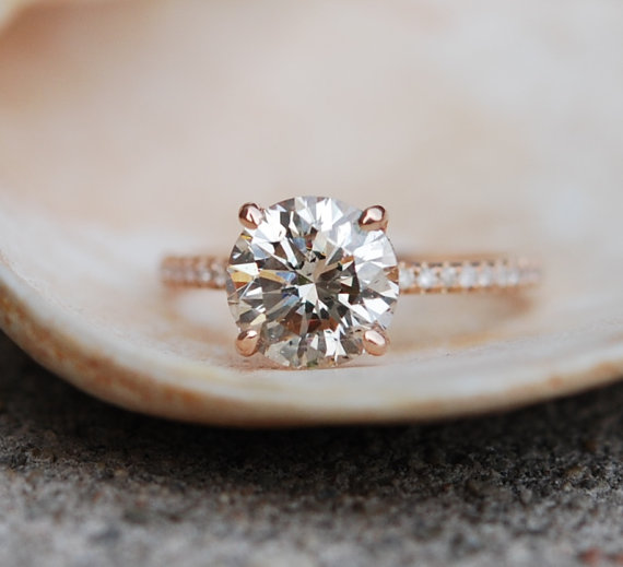 engagement ring by eidelprecious | Engagement Rings Etsy | via http://emmalinebride.com/jewelry/40-best-handmade-rings-ever/