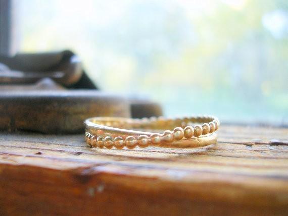 entwined together bands | handmade wedding bands | http://emmalinebride.com/jewelry/handmade-wedding-bands/