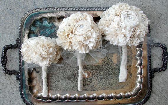 Faux Flower Bouquets (bouquet: autumn and grace bridal)