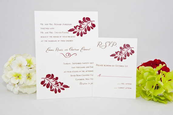 fall wedding invitations | via Fall Wedding Invitations