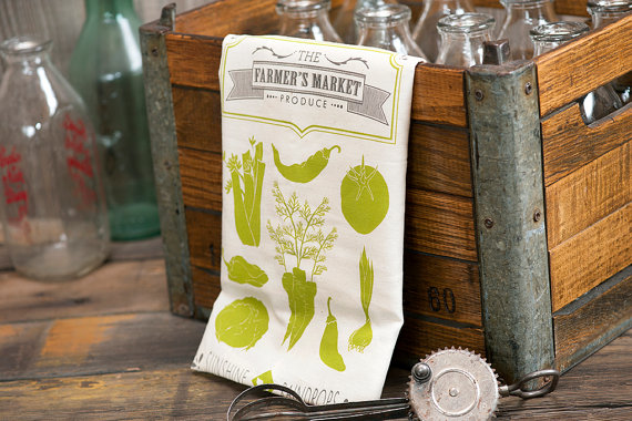 farmers market - tea towels for wedding showers