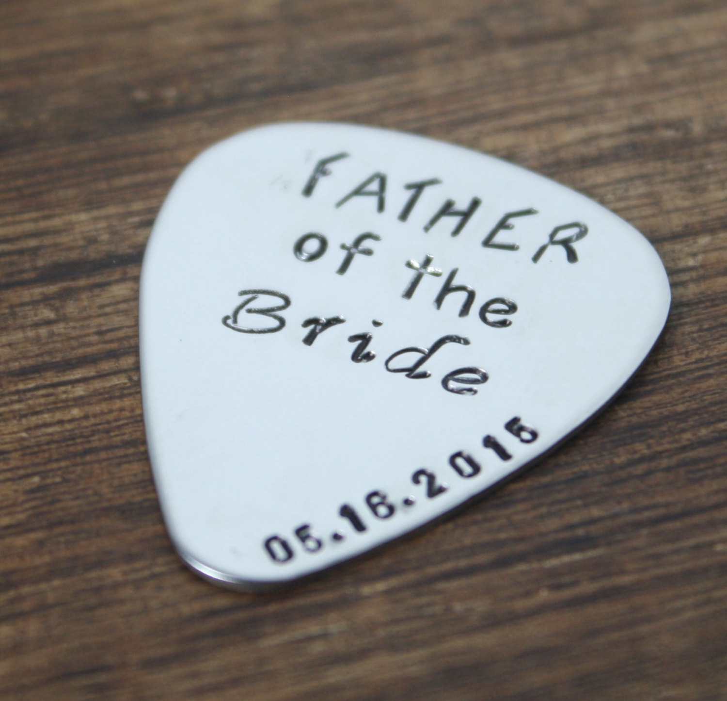father of the bride personalized guitar pick