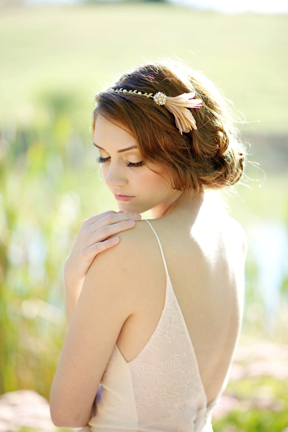 feather headband | what to wear instead of a veil