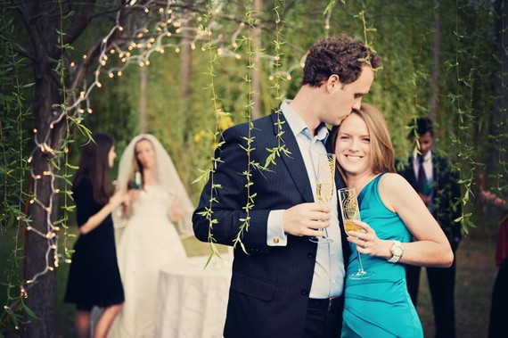 Feather Themed Wedding - flutes by mary elizabeth arts