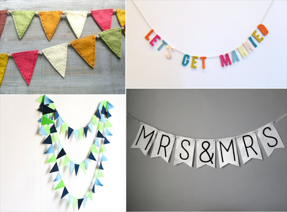 felt wedding banners