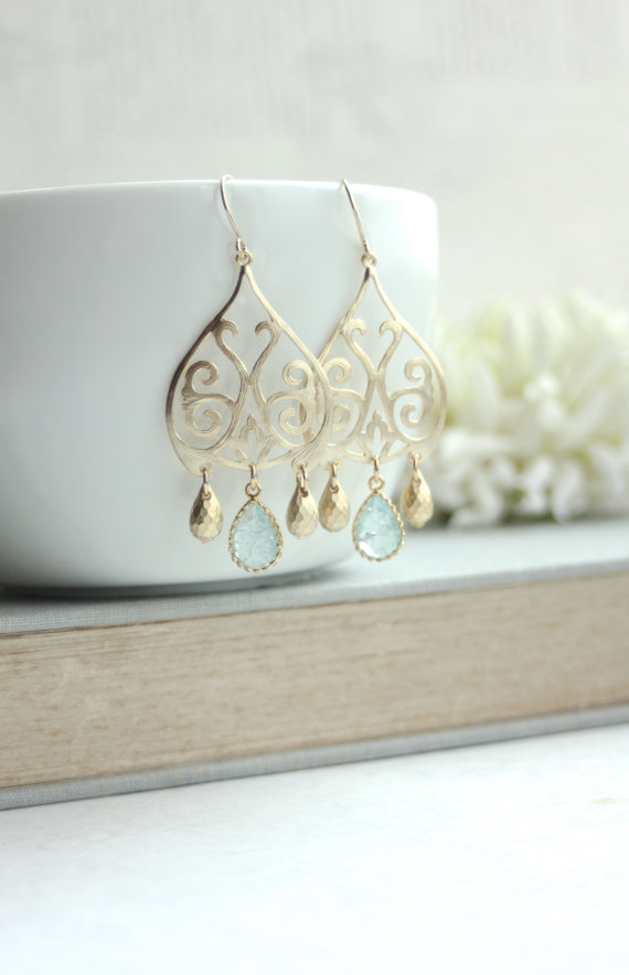 gold earrings - moroccan wedding jewelry