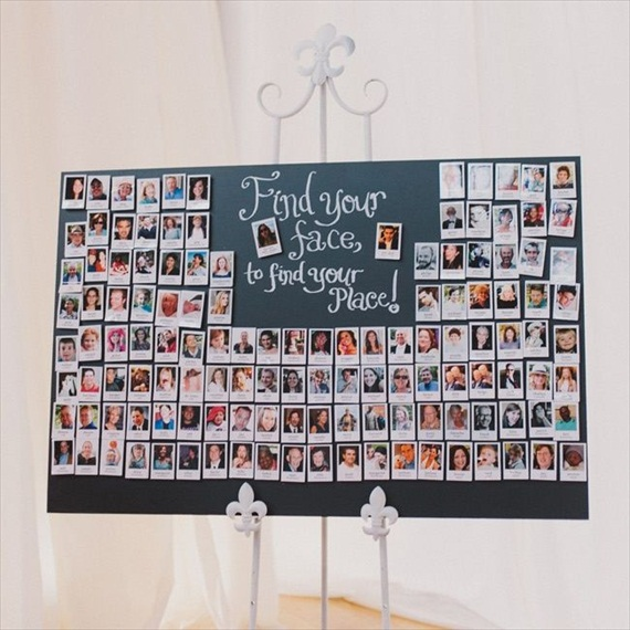 Polaroids at Weddings - polaroid escort cards