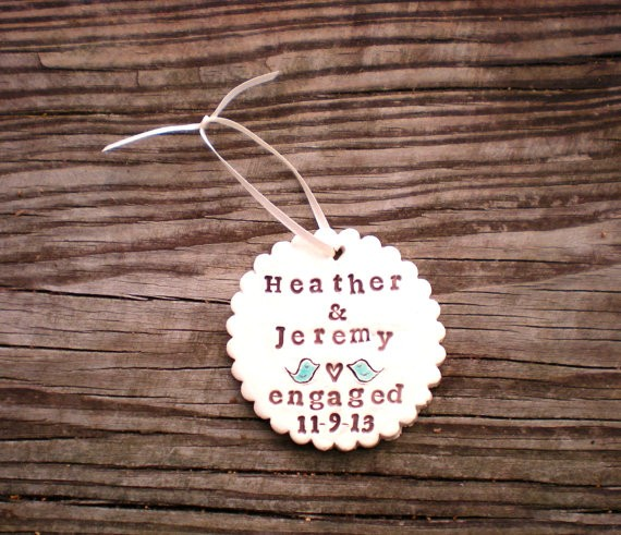 first christmas engaged ornament by MerrilysLittleShop