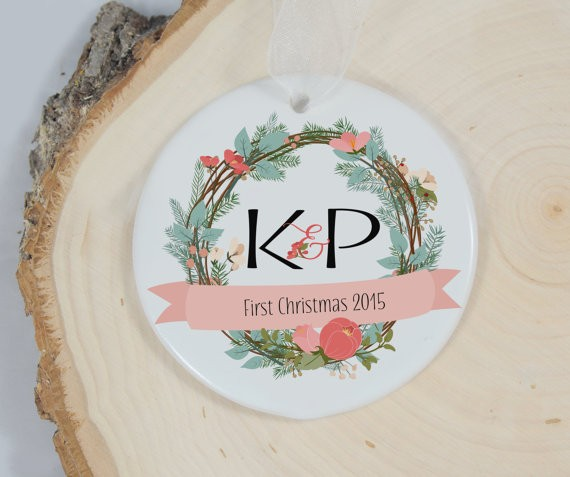 first christmas floral wreath ornament by mrsmylaurie