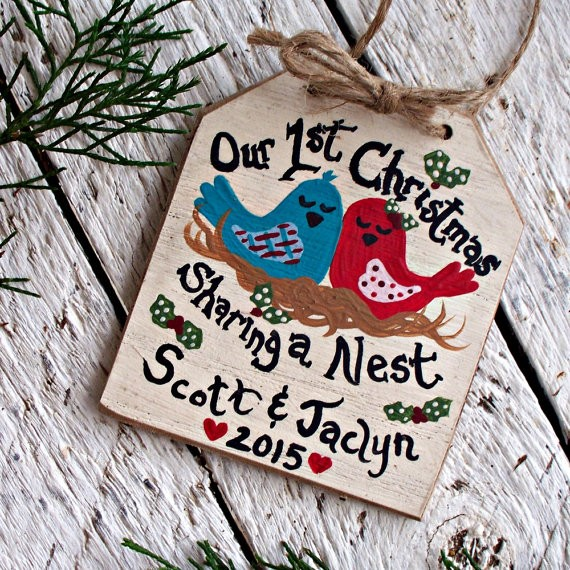 first christmas sharing a nest ornament by countrytags